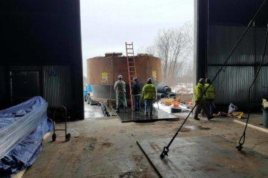 75 Ton Turbine Wheel into Storage for Hydro-Plant